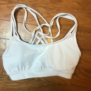 Athleta strappy racerback sports bra